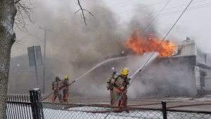 A business in Haldimand County was destroyed in a fire on Wednesday. (Source: OPP)