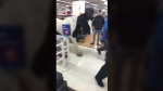 Shoppers in Dublin, Ireland, captured the bizarre moment a man brought a horse into a busy supermarket in Dublin.(Storyful)