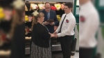 Two Walmart employees got hitched in the Berlin, Vt. store where they met, according to a video posted on a Vermont Walmart's Facebook page on Monday. (Walmart Berlin - Berlin Mall Rd Ste 1/Facebook)