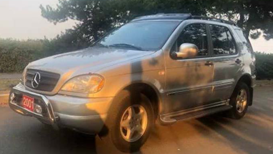 Vancouver police say sex offender Joseph Davis purchased a grey 2001 Mercedes similar to the one in this photo.