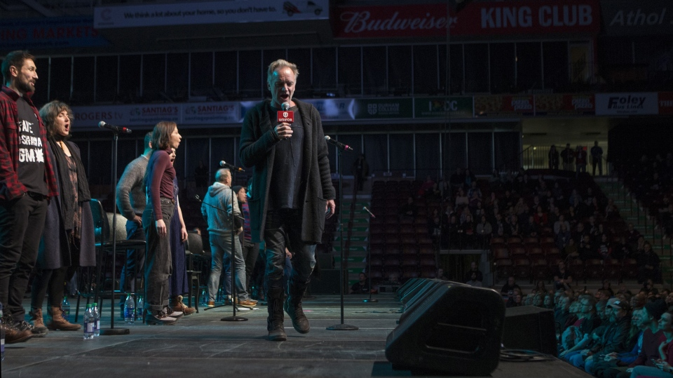 Sting and the cast of his musical
