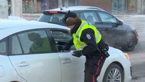 EPS hand out treats to drivers abiding by distracted driving laws.
