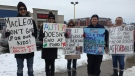 Parents express their anger over changes to Ontario's autism program in St. Thomas, Ont. on Thursday, Feb. 14, 2019. (Adrienne South / CTV London)