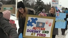Rallying against autism service changes