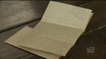 Woman finds 100-year-old letter about WW1