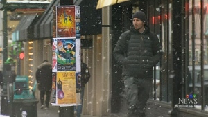 Snow comes down again as classes resume