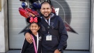 Riya Rajkumar, 11, and Roopesh Rajkumar, 41, are seen in this photo provided by Peel Regional Police.