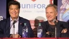 CTV National News: Sting visits Oshawa GM workers