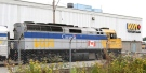 A Via Rail locomotive sits idle in Vancouver, B.C., on Friday July 24, 2009. (Darryl Dyck / THE CANADIAN PRESS)