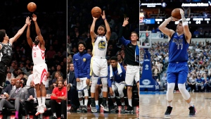 The step-back 3-pointer is the perfect weapon for the modern NBA, practically a necessity in a game where the ability to find space to shoot from behind the arc is more valued than ever before. (AP Photo/File)