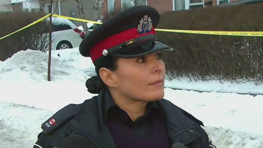 Peel police spokesperson Danny Marttini speaking to reporters on Friday morning.