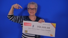 Marie Clemence Shank-Lepage, 69, of Bonfield recently won $250,000 in an instant scratch ticket. (OLG)