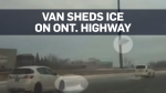 Video of close call on Kitchener highway