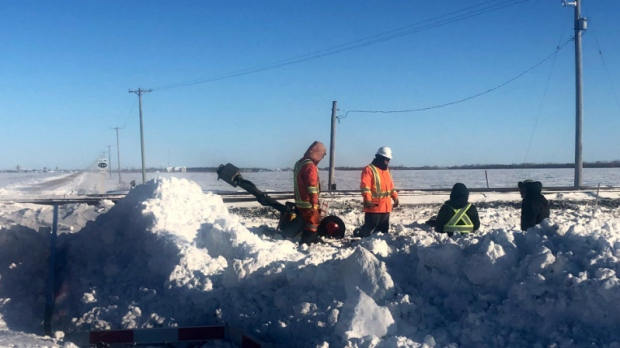 Semi-trailer hit by train after getting stuck on tracks