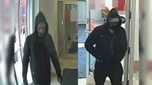 Police are trying to identify with person in the above photos in connection to this incident. (Source: WRPS)