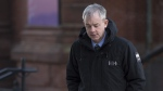 Dennis Oland heads to the Law Courts in Saint John, N.B., on January 29, 2019 as his trial in the bludgeoning death of his millionaire father, Richard Oland, continues. (THE CANADIAN PRESS/Andrew Vaughan)