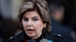 Attorney Gloria Allred speaks to the media after attending a hearing for Harvey Weinstein, Thursday, Dec. 20, 2018, in New York. (AP Photo/Mark Lennihan)