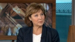 Former B.C. premier Christy Clark during an appearance on CTV's Power Play.