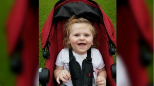 Isabelle Roberts has rare disorder called Angelman Syndrome.