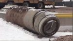 City is realigning storm sewers in north end of city and it's released a chemical with an unpleasant odour.