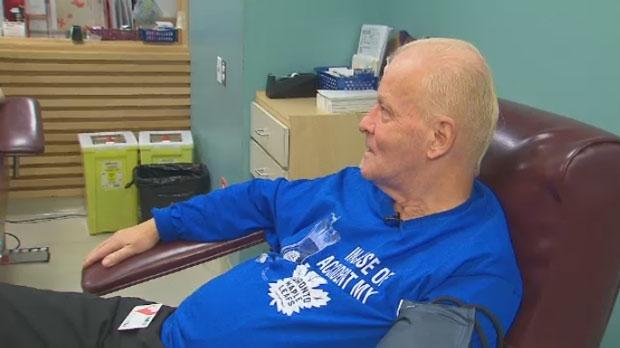 Toronto retiree makes his 800th blood donation