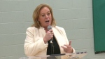 Ontario Social Services Minister Lisa MacLeod speaks in Ottawa.