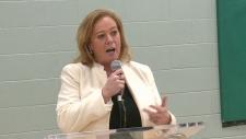 Ontario Social Services Minister Lisa MacLeod speaks in Ottawa.