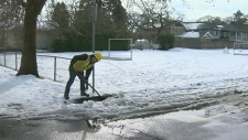 The melt is on: Snow turns to slushy soup