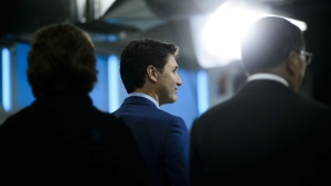 Prime Minister Justin Trudeau visits BlackBerry QNX Headquarters in Ottawa on Friday, Feb 15, 2019. (CANADIAN PRESS / Sean Kilpatrick)