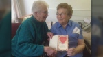 Sisters Pauline Woodworth and Dorothy DeLong have been exchanging the same Valentine's Day card for more than three decades.