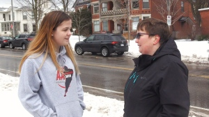 Tracey Billing and her daughter Mikayla are considering legal action after they say a large pothole totaled their vehicle. (CTV)