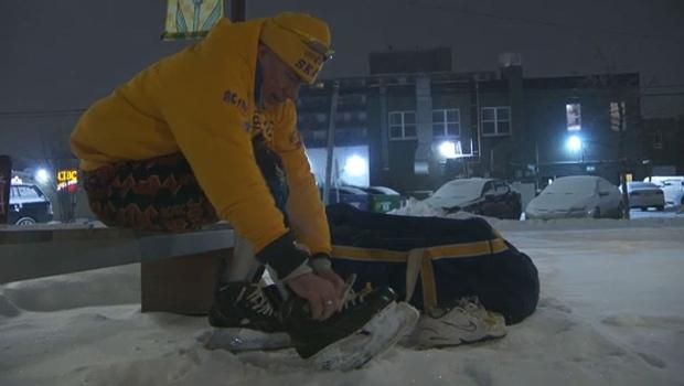 Calgary man takes on skating marathon for Alzheimer's research