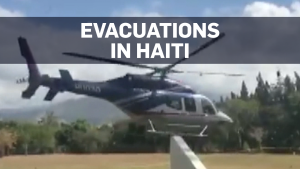 Canadians flee resort in Haiti by helicopter