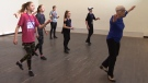 Tap dancing legend Brenda Bufalino, 81, is seen leading a class.