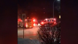 Vehicle hits firefighter on duty