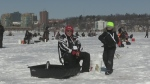 Hundreds of anglers head out on Kempenfelt Bay hoping to reel in the top prize at the 13th annual charity ice fishing tournament.