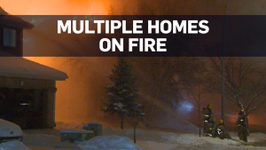 Houses on fire in Calgary after possible explosion