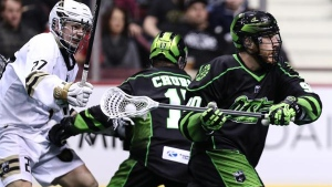 The Saskatchewan Rush picked up a crucial road win over the Vancouver Warriors on Feb. 16. (Source: Saskatchewan Rush)