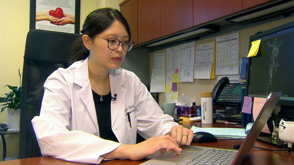 Dr. Jennifer Chung is seen in this image.
