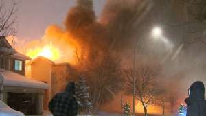 Apparent home explosion in Calgary