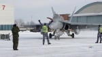 The Royal Canadian Air Force marked the arrival of two used Australian fighter jets with a ceremony on Sunday in Cold Lake, Alta.