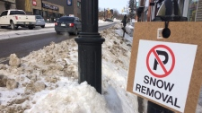 No parking Sign in Downtown Barrie