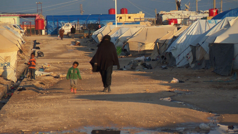 The Al-Hawl refugee camp in eastern Syria.