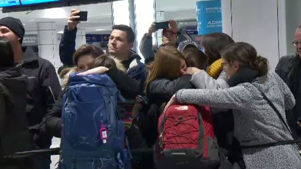 The Quebec students were on a volunteer trip to Haiti but had to leave early because of political unrest.