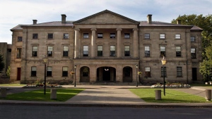 The Prince Edward Island legislature in Charlottetown on Sept. 25, 2003. Tiny Prince Edward Island has a chance to send a big message to the rest of the country about electoral reform when voters are asked to consider proportional representation in a referendum as early as this spring.THE CANADIAN PRESS/Andrew Vaughan