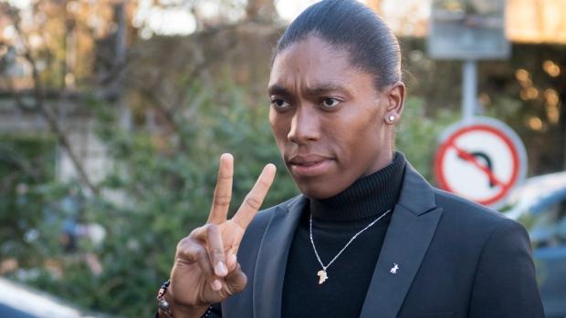 South Africa's runner Caster Semenya