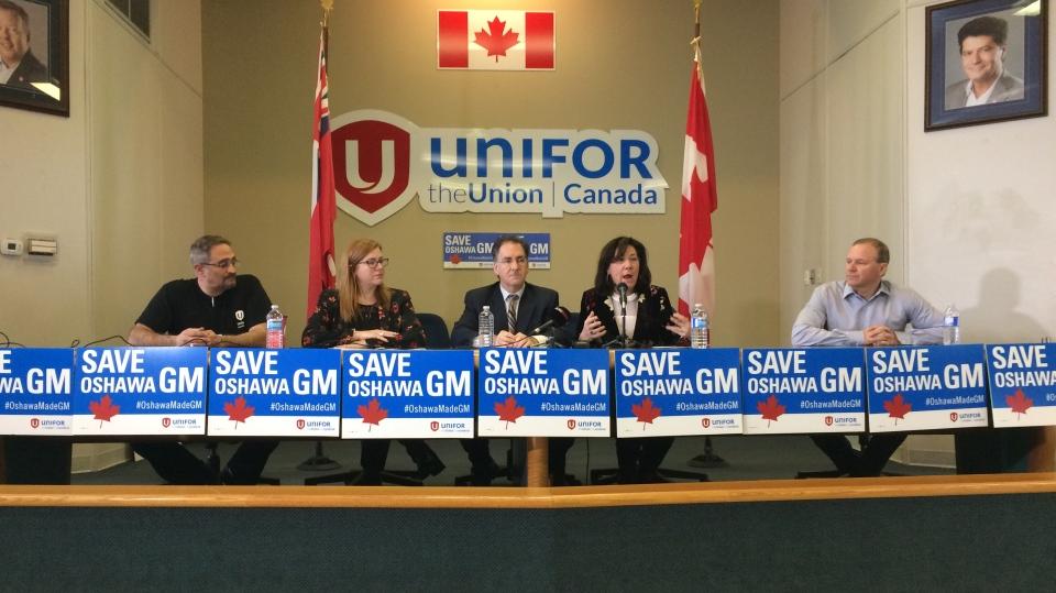 Unifor press conference