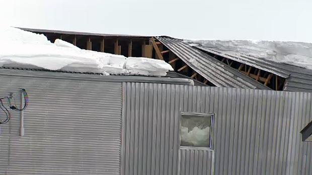 Roof collapse in Mirabel