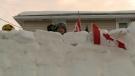 Vanier family's snow fort