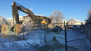 A home on Douglas Glen Close S.E. was decimated in a fire on February 17, 2019.